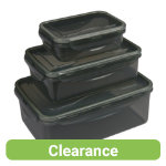 Set of 3 green lunch boxes